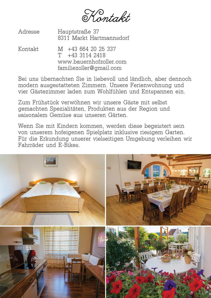 Bauernhof Zoller Flyer 2015 Hinterseite