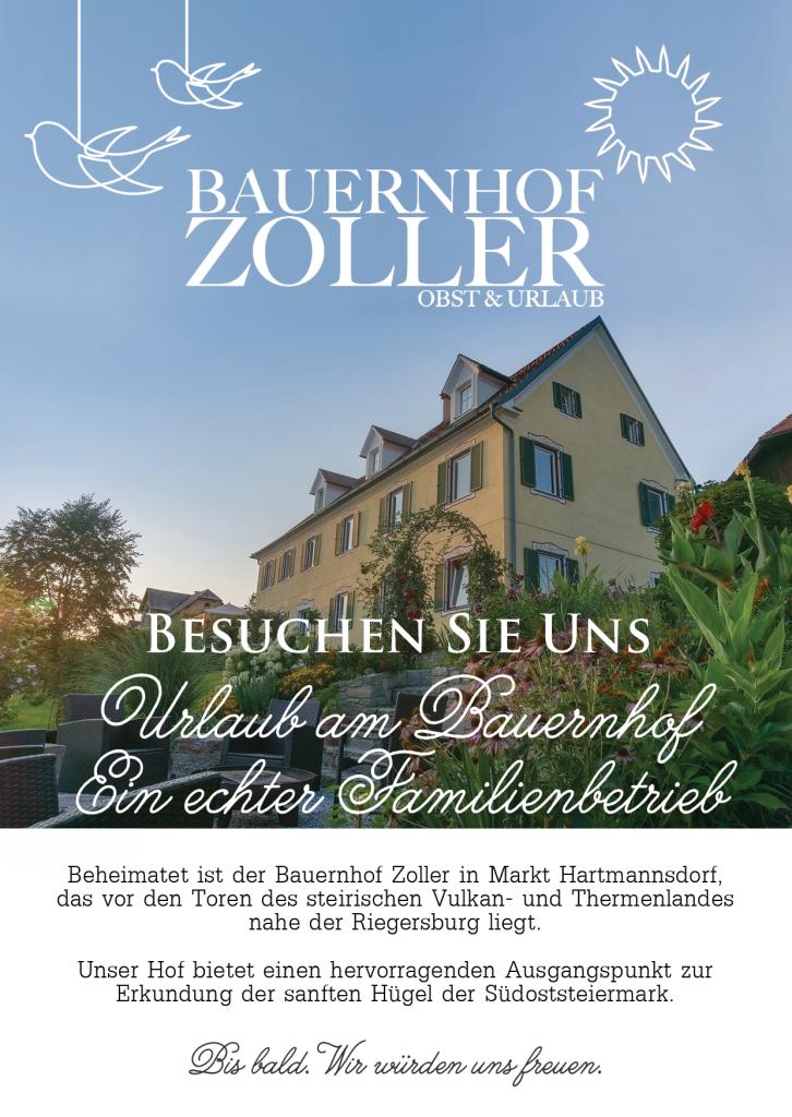 Bauernhof Zoller Flyer 2015 Vorderseite